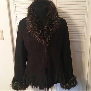 Mechant vintage faux suede coat